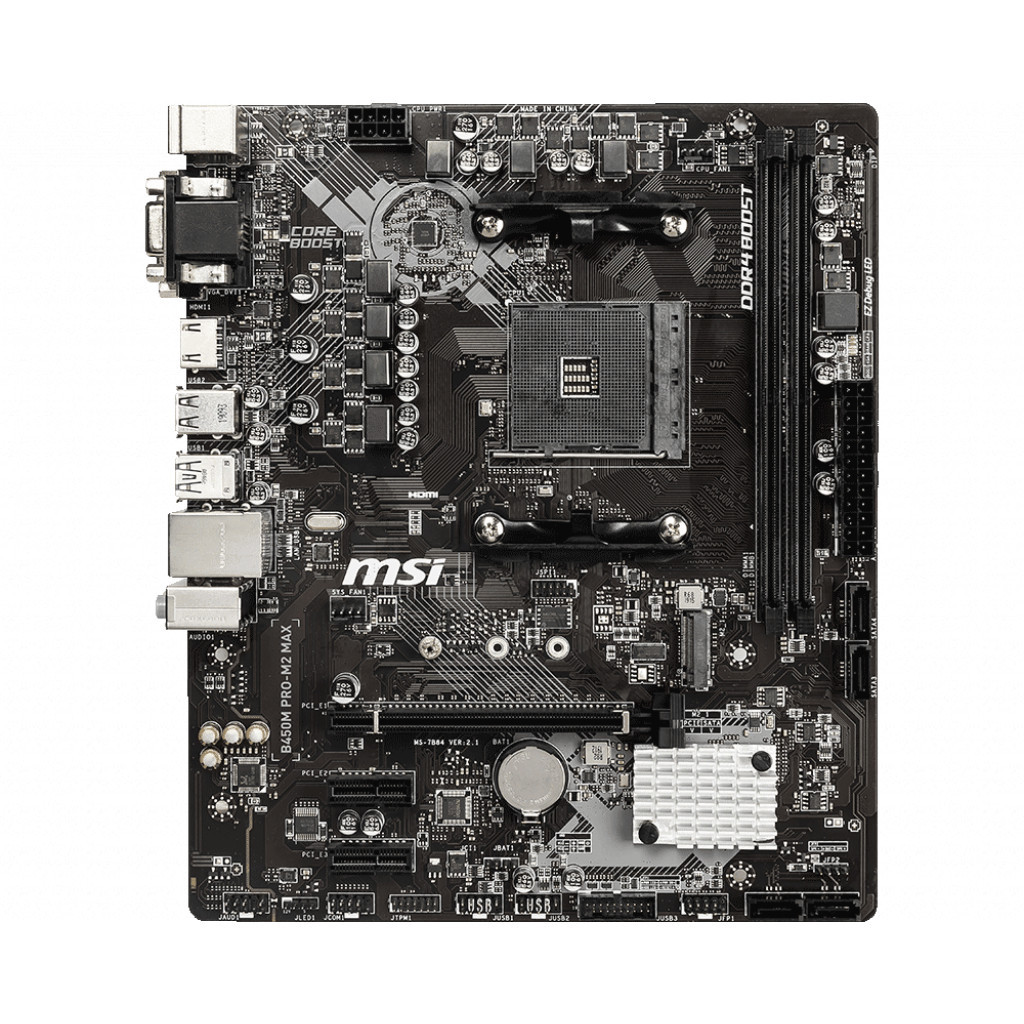 "Материнская плата MSI B450M PRO-M2 MAX Socket AM4 AMD B450 ""Over-Stock"" Б/У"