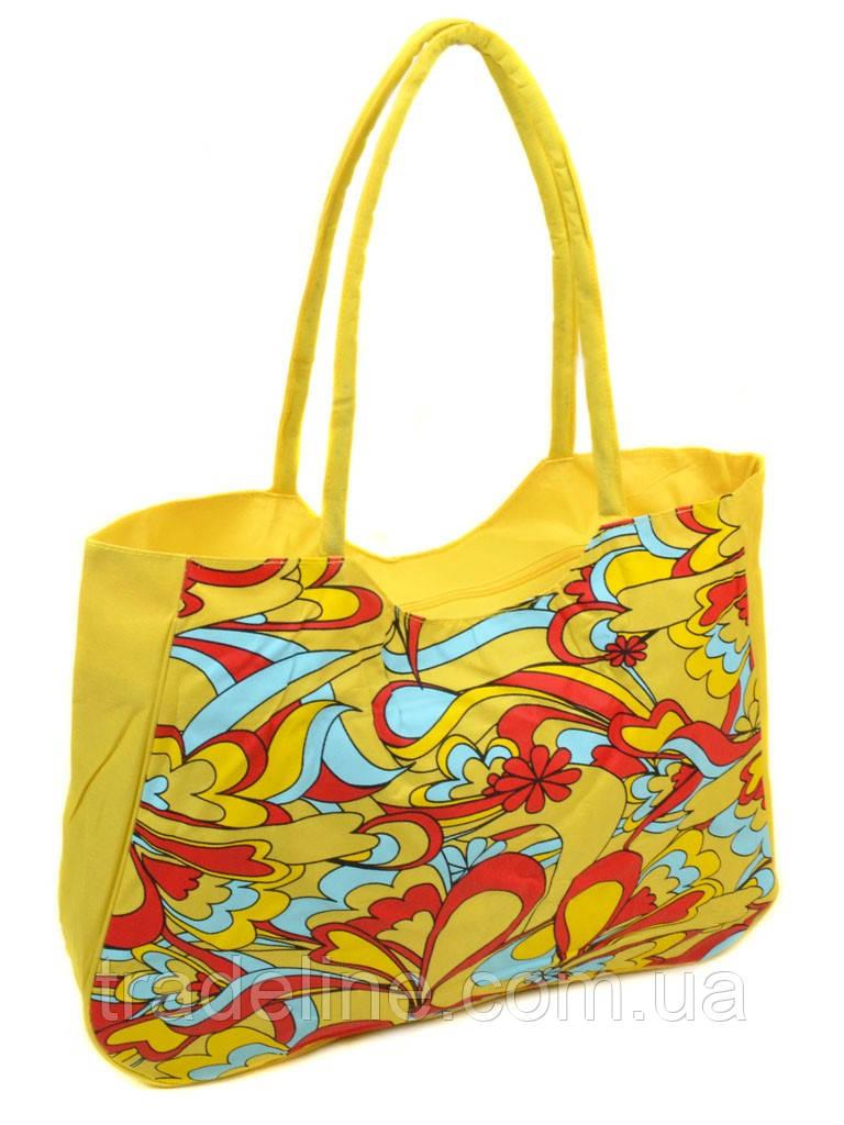 Сумка Женская Пляжная текстиль /1323 yellow