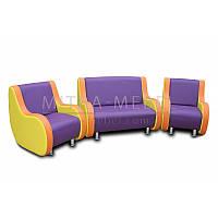 Дитячий диван і комплект крісел Карапуз