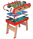 Деревянный полупрофессиональный футбольный стол Power Play 4 в 1 Smoby 640001 настольный футбол, фото 2