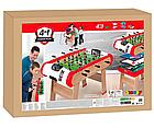 Деревянный полупрофессиональный футбольный стол Power Play 4 в 1 Smoby 640001 настольный футбол, фото 6