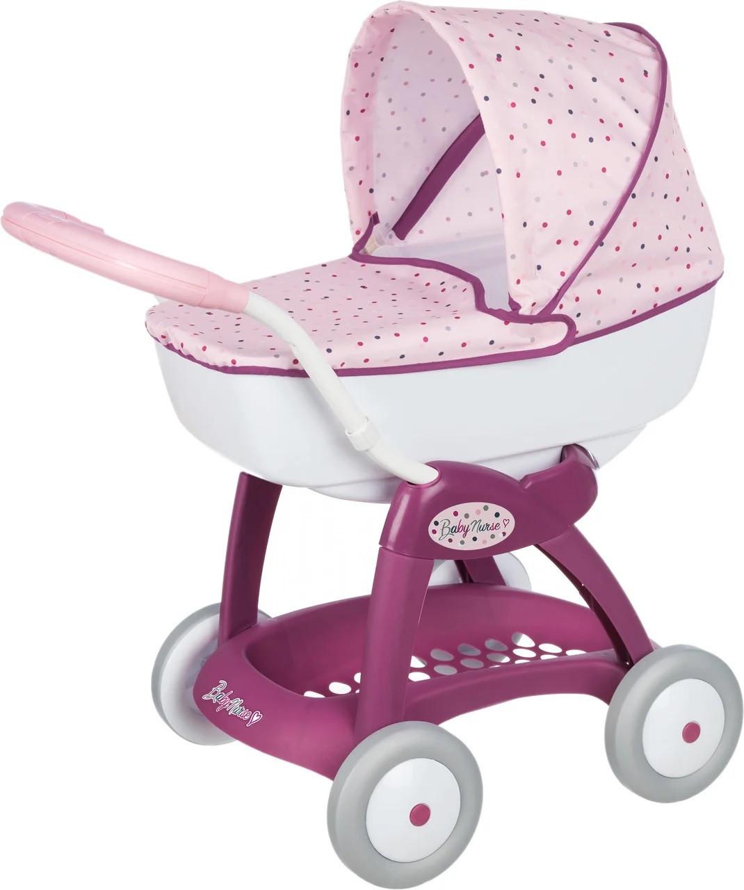 Детская коляска для кукол Прованс Классик Smoby Baby Nurse 251103 люлька с корзиной