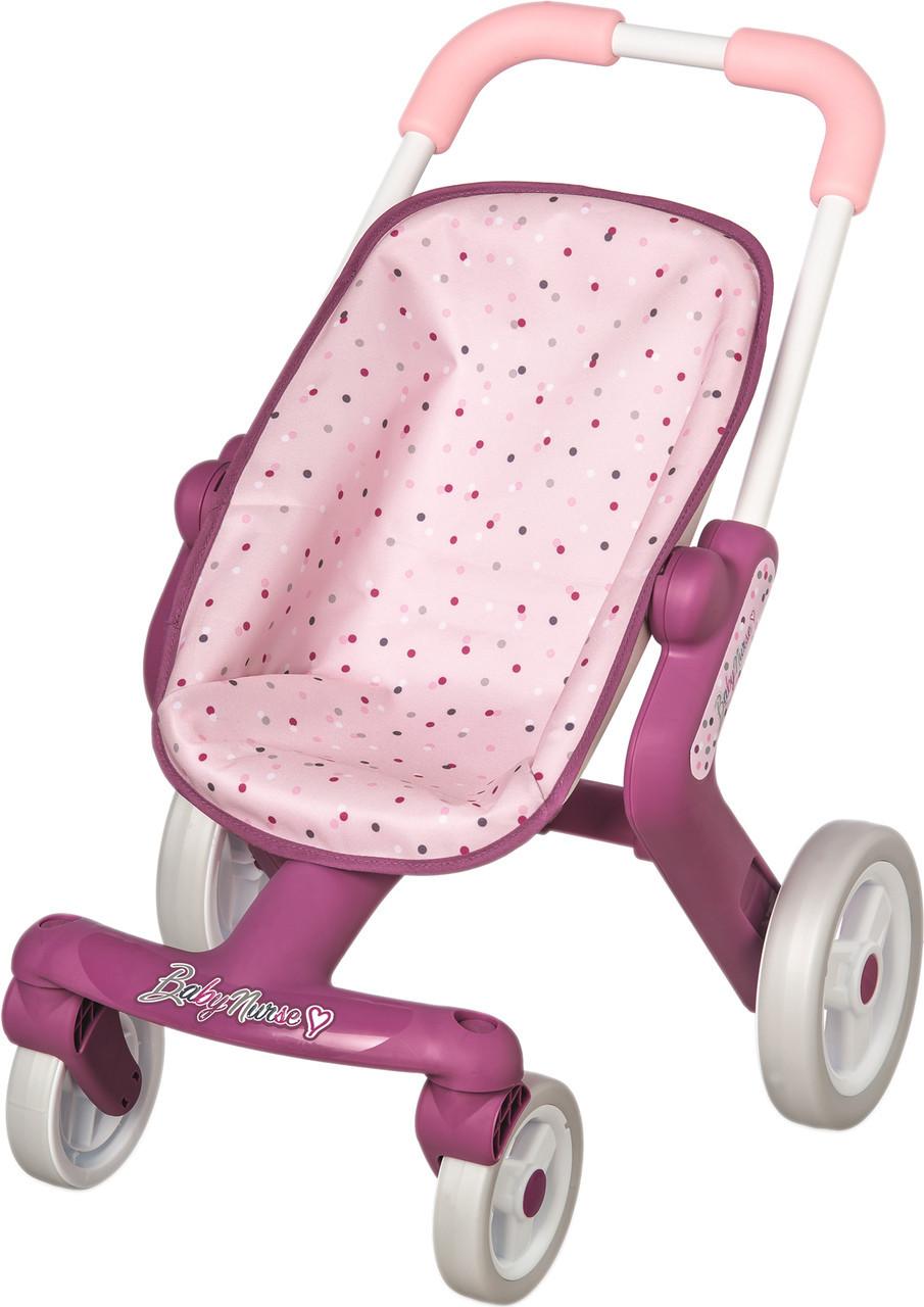 Детская коляска для кукол Прованс Прогулка Smoby Baby Nurse 251203 с поворотными колесами