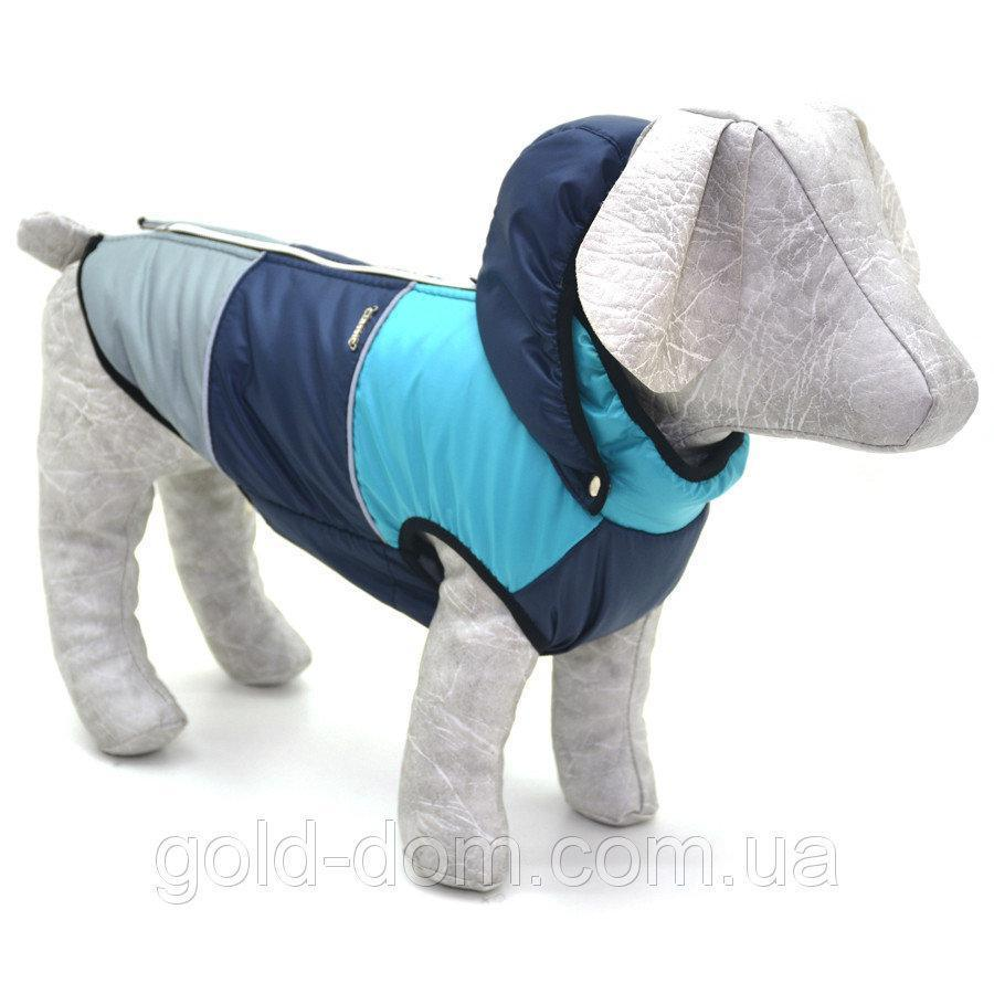 Жилет Трио с капюшоном для собак синий