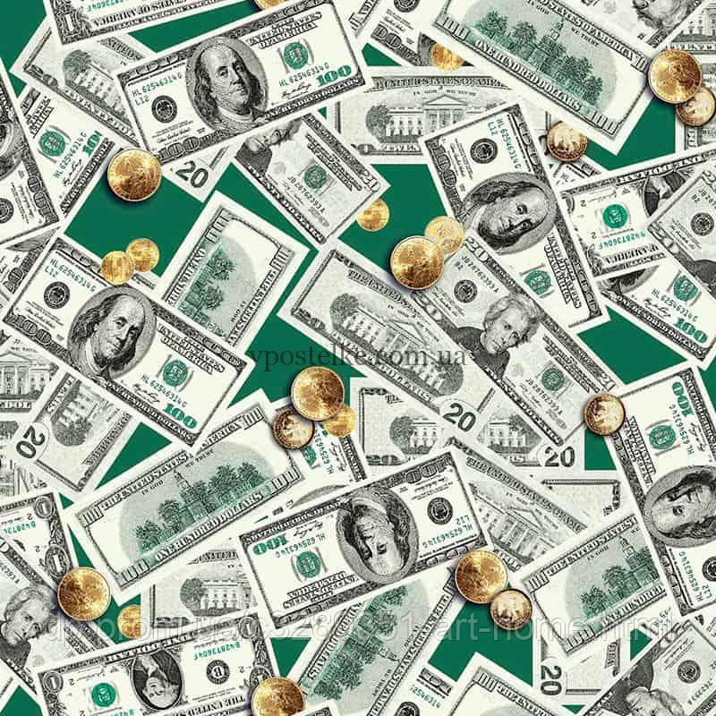 Вафельное полотенце Доллары