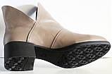 Ботинки женские кожаные демисезонные на низком каблуке от производителя модель ЛД101-1, фото 4
