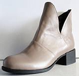 Ботинки женские кожаные демисезонные на низком каблуке от производителя модель ЛД101-1, фото 2