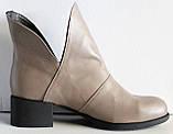 Ботинки женские кожаные демисезонные на низком каблуке от производителя модель ЛД101-1, фото 3