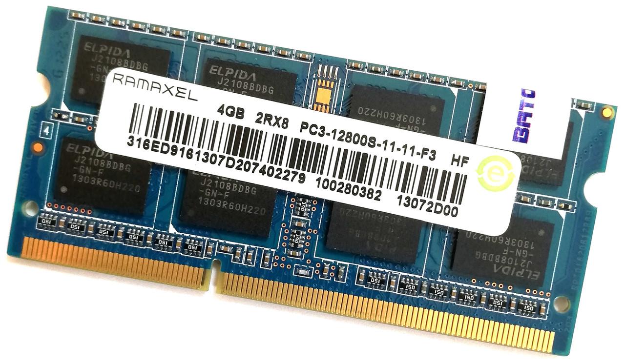 Оперативная память для ноутбука Ramaxel SODIMM DDR3 4Gb 1600MHz 12800s CL11 (100280382) Б/У