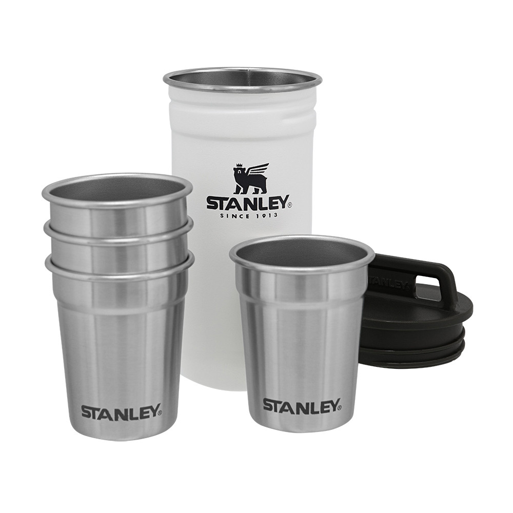 Набор Stanley Adventure Combo (фляга-футляр 0.59 л и 4 рюмки) Polar