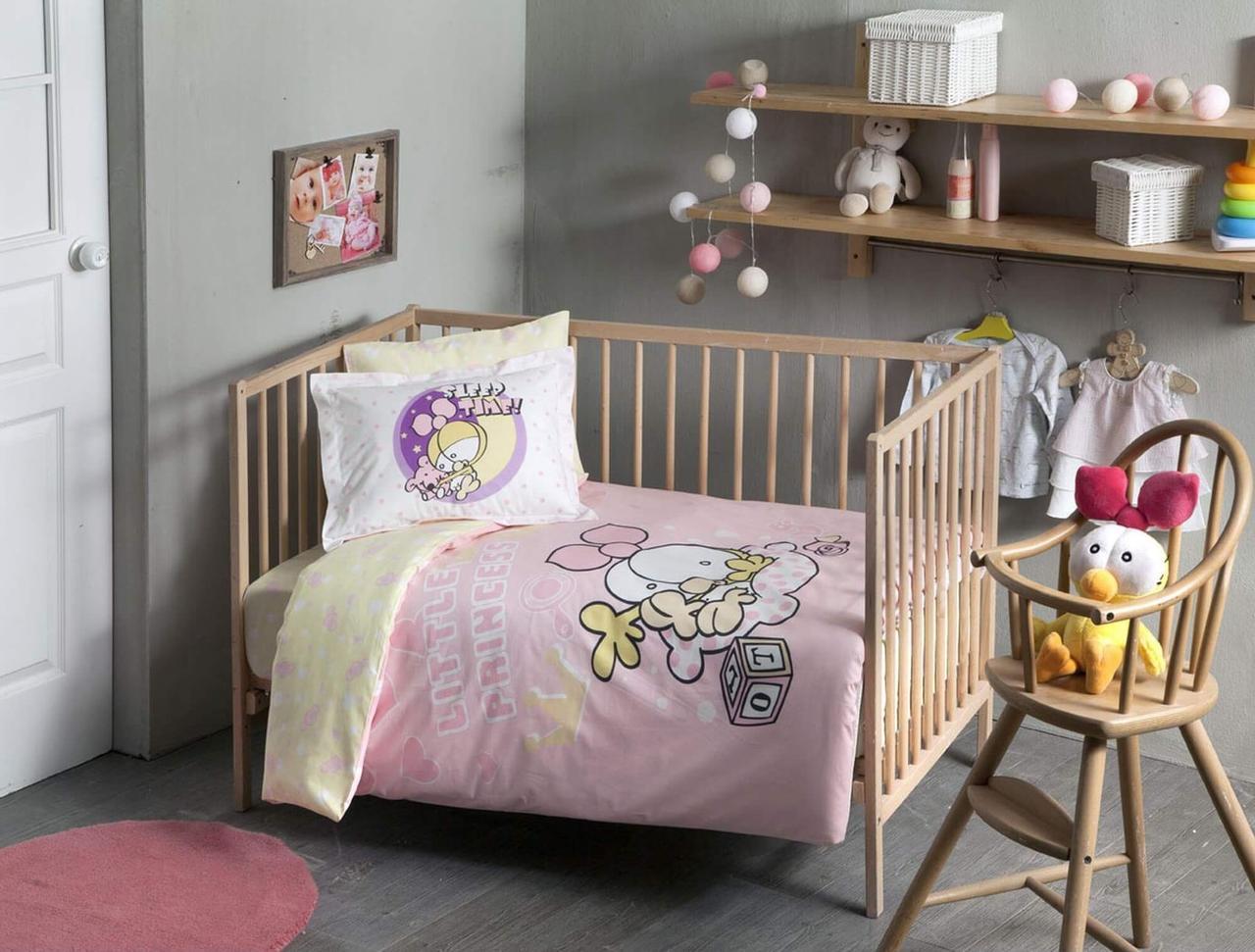 Детское постельное белье в кроватку TAC Little Princess для новорожденных