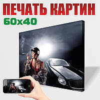 Фотокартина на холсте 60х40 см из Вашего фото