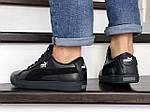 Мужские кроссовки Puma Suede (черные) 8975, фото 3