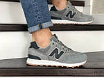 Мужские кроссовки New Balance 574 (светло-серые) 8980, фото 4