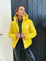 Демисезонная куртка К 0021 с 01 желтая