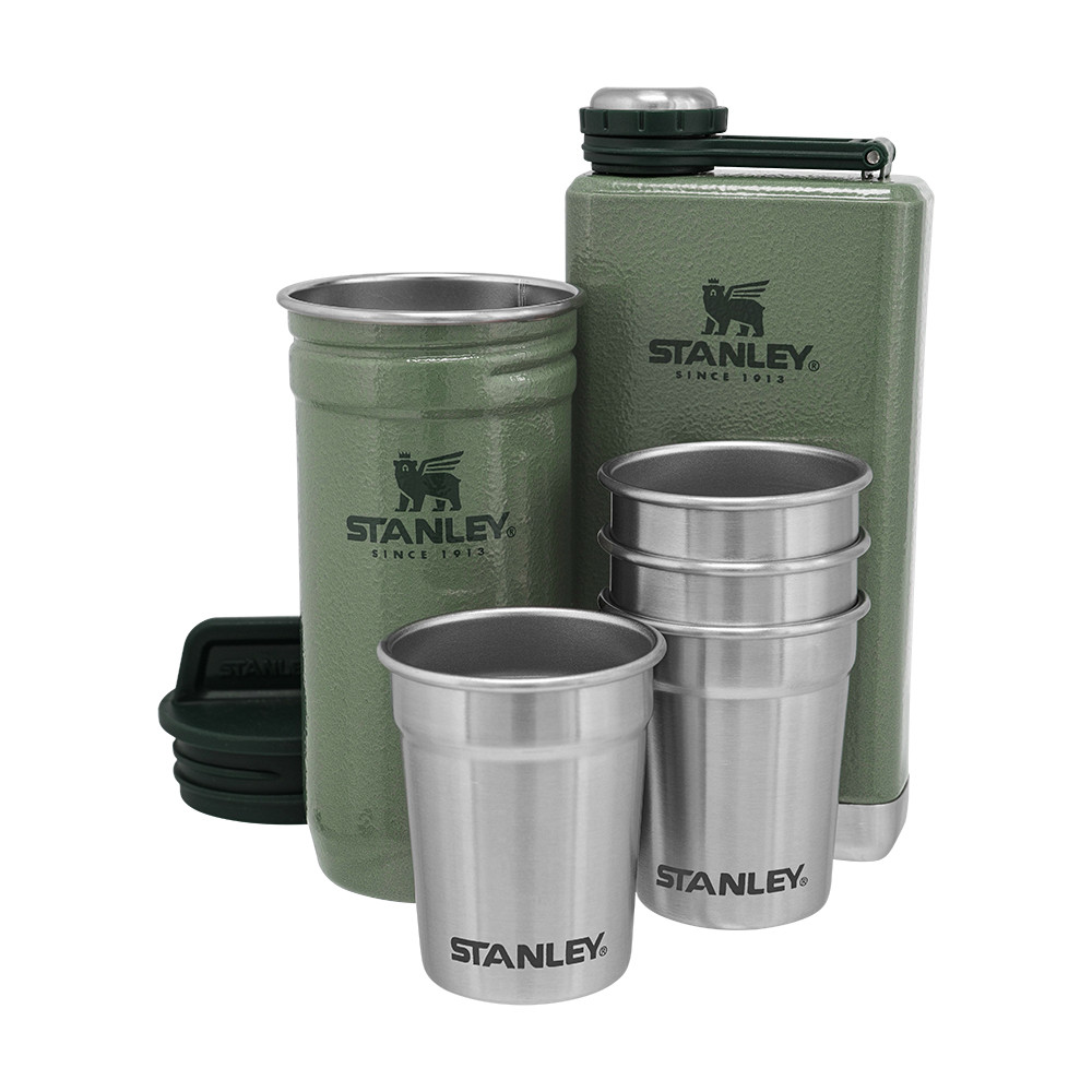 Набор Stanley Adventure (1 фляга, 1 футляр 0.236 л и 4 рюмки) Hammertone Green