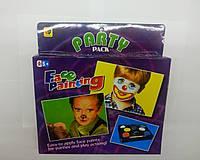 Грим-краска для лица 5+1 цветов, в наборе также кисточка и спонжик, подходит для детей