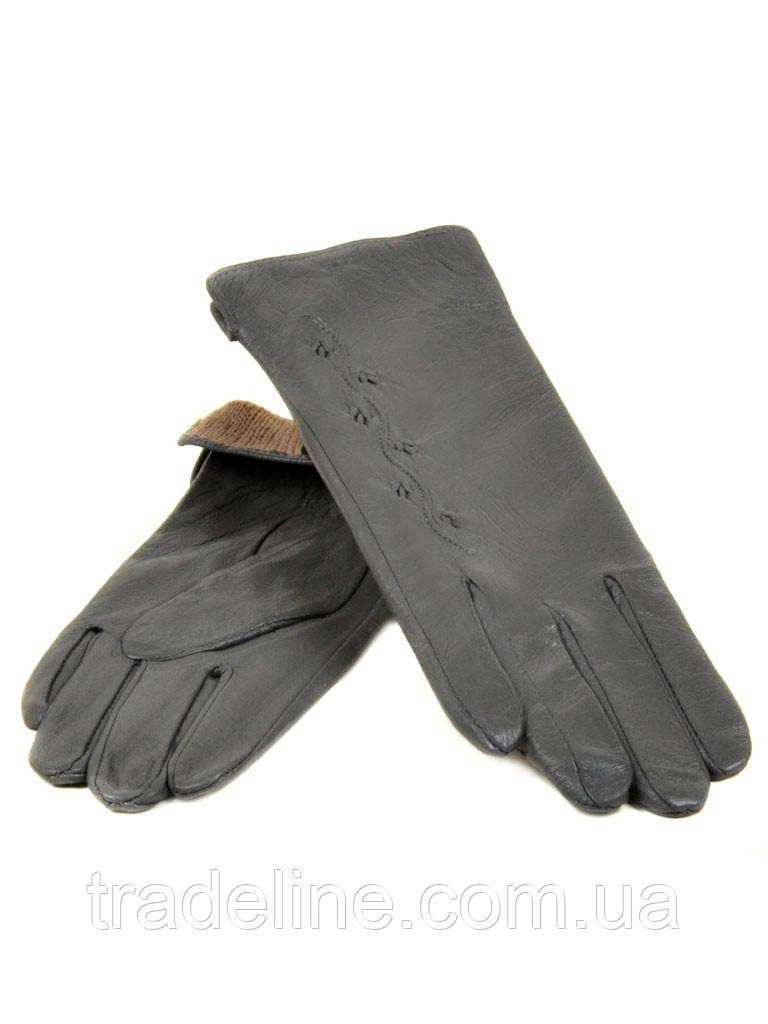 PODIUM Перчатка Женская кожа (Ш) F23 мод6 сер st33 Распродажа