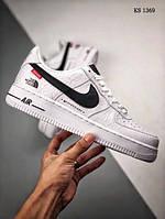 Мужские кроссовки Nike Air force 1 x Supreme x The North Face (белые) 1369