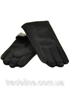 PODIUM Перчатка Мужская иск-кожа-олень M25 Махра мод2 black