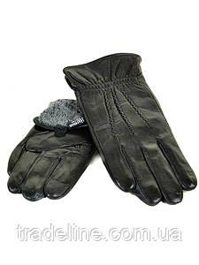 PODIUM Перчатка Мужская кожа M21-17/1 мод1 black махра