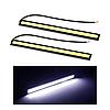 Ходовые дневные огни Led Daytime 17 см полоса белая 2шт (универсальные светодиодные ленты, дневная подсветка)