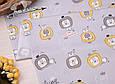 Сатин (хлопковая ткань) лёвики на сером, фото 2