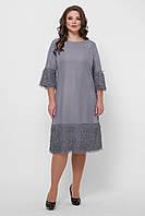Коктейльное платье большого размера  с брошкой,  размер  50-58