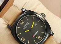 Брендовые мужские кварцевые часы CURREN GOLD Экстрим функции Ударопрочные Коричневый ремешок  Фото Код: КШ0872