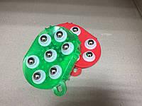 Рукавица 3в1 массажная антицелюлитная с металлическими шариками силиконовая Roller Ball