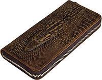 Мужской клатч Vintage 14462 кожа под крокодила Коричневый, Коричневый, фото 1