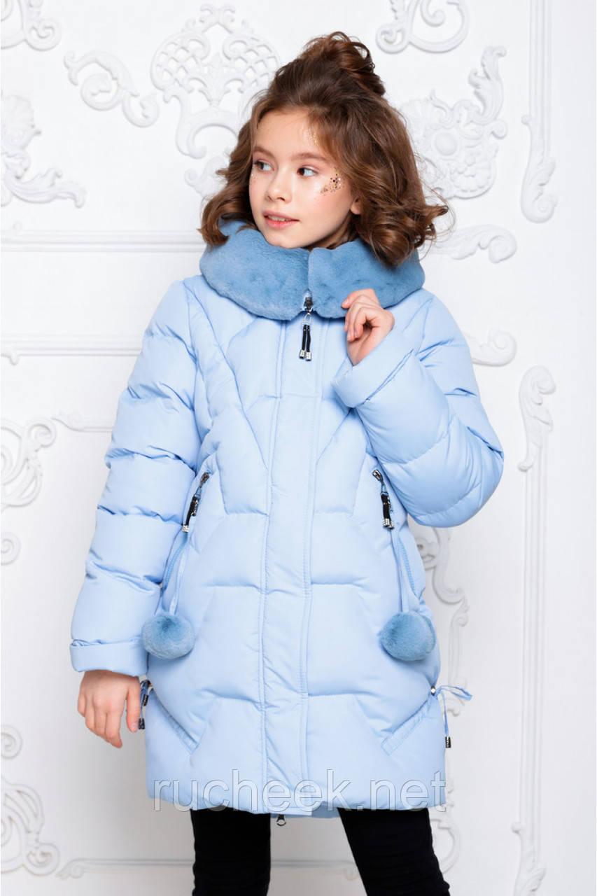 Детский зимний  пуховик для девочки Шелли рост 116 - 158 , Nui very Украина