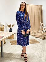 Платье женское красивое весеннее с принтом миди Smfl4090