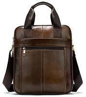 Деловая мужская сумка кожаная Vintage 14789 Коричневая, фото 1