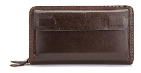 Мужская барсетка с ремешком на руку Vintage 14915 Коричневая