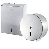 Комплект оборудования для санузлов: держатель бумажных полотенец Z, W и держатель туалетной бумаги в рулонах