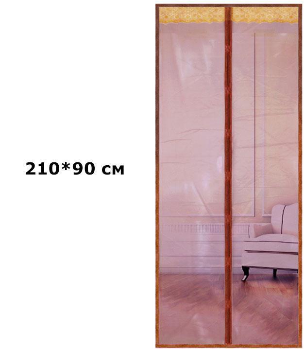 Антимоскітні сітки на двері на магнітах 90*210см (коричневі)