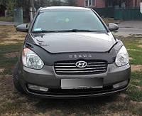 Дефлектор капота (мухобойка) Hyundai Accent/Verna 2006-2009