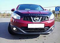 Дефлектор капота (мухобойка) Nissan Qashqa 2009-2014