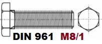 M8/1-01.03.02 10.9 DIN 961