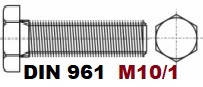 M10/1-01.03.02 10.9 DIN 961