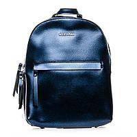 Красивый модный женский рюкзак из натуральной кожи синий (29*22*12см) ALEX RAI, 1-06 337 blue