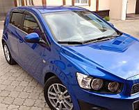 Дефлекторы окон (ветровики) Chevrolet Aveo Hb 5d 2011
