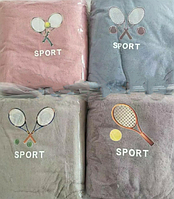 Лицевые  полотенца микрофибра «Теннис спорт» (4 шт)