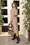 Плащ-тренчкот брендовый женский Domenica удлинённый двубортный (3 цвета, р.S-XL), фото 4