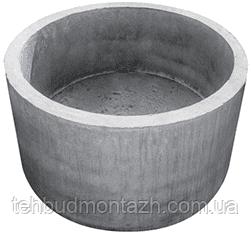 Железобетонное кольцо + дно 1м, стакан (КЦД 10.9)
