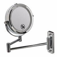 Подвійне дзеркало для гоління / макіяжу з кріпленням на стіну 5Х, фото 1