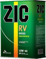 Полусинтетическое моторное масло Zic(Зик) Rv Diesel 10w40 4л.