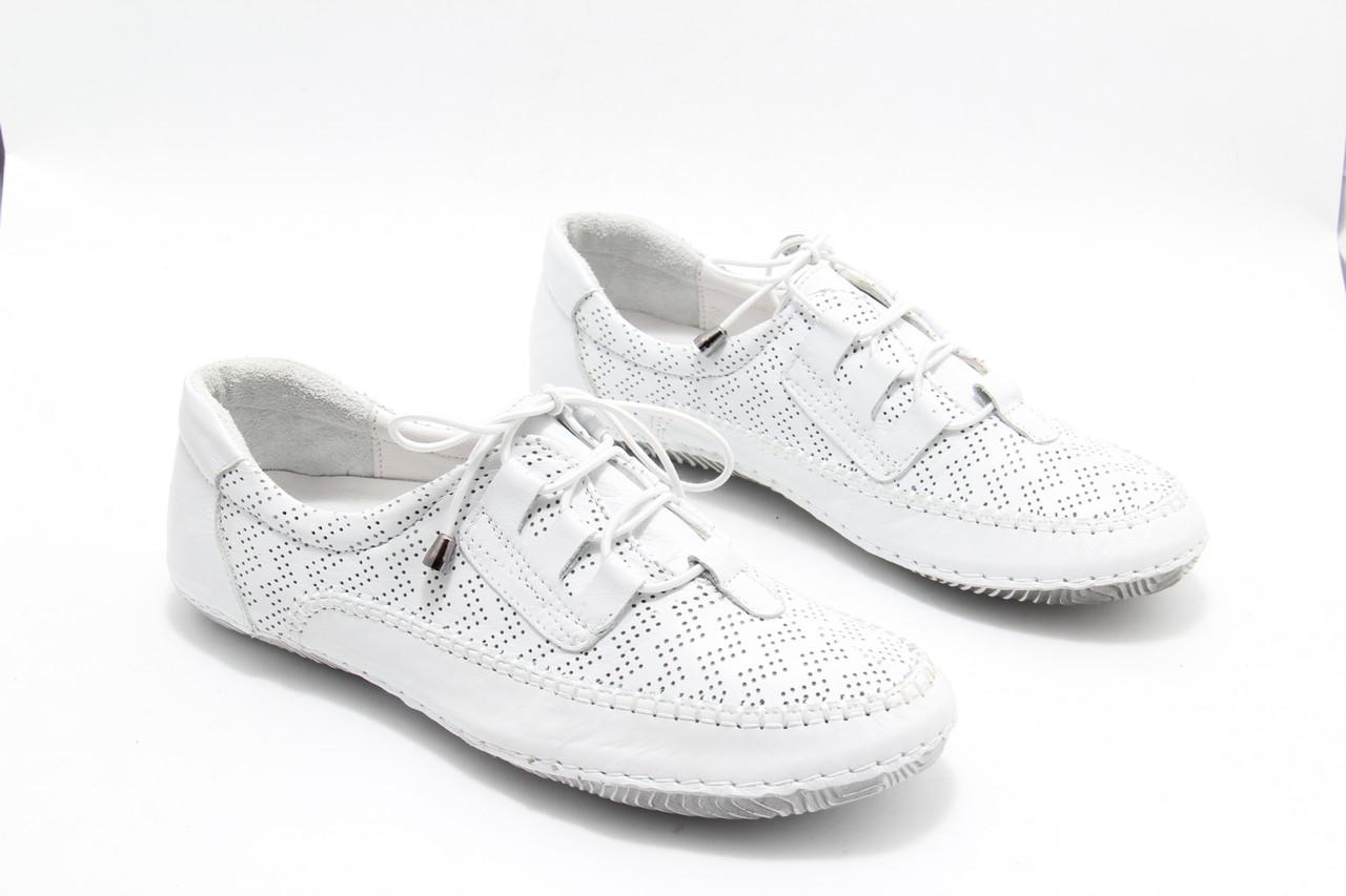 Білі мокасини літні Izderi 19120-beyaz