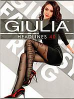 Колготки фантазийные с рисунком GIULIA HEADLINES 40
